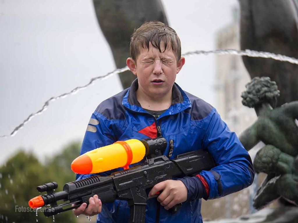Vattenkrig Götaplatsen 2015 01