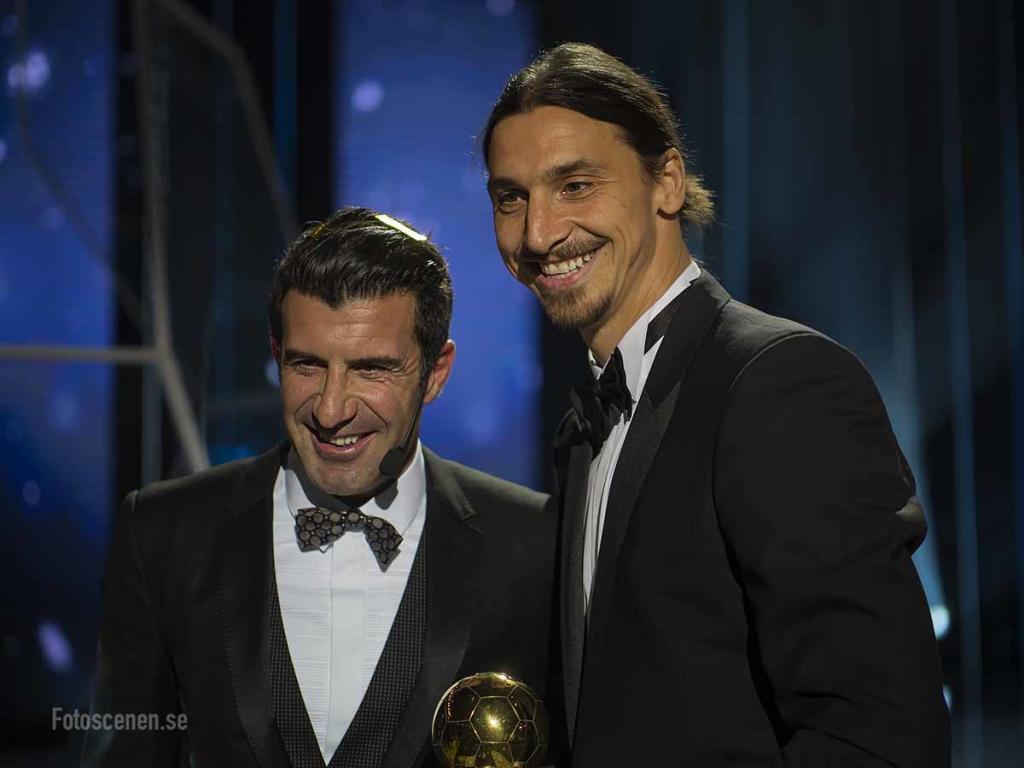 Luis Figo och Zlatan Ibrahimović