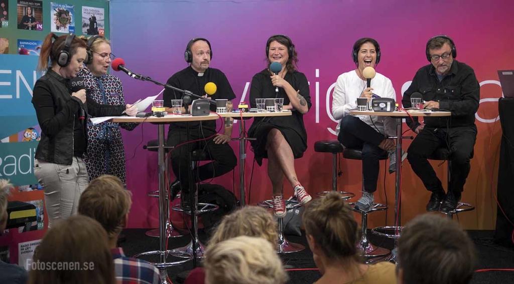 Sara Lövestam, Annika Lantz, Kent Wisti, Dilsa Demirbag-Sten och Janne Josefsson
