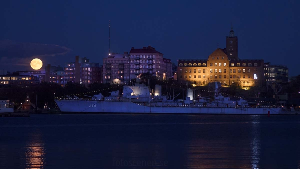 Fullmåne göteborg maritiman maritimskt museum Gothenburg jagare krigsskepp